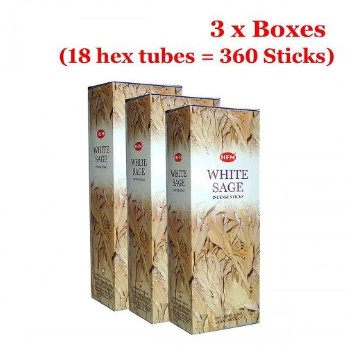フルーティー対応する独立したHemホワイトセージバルク360?Sticksお香、3ボックス?–?(360?Sticksバルクper order)