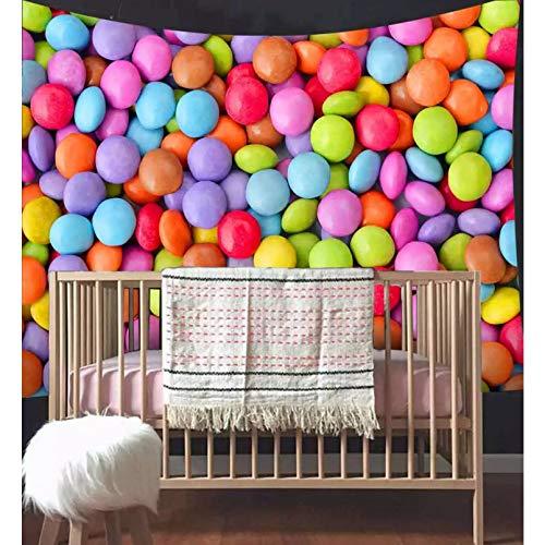 N/A Impresión 3D De Cinta Tapiz De Piruleta De Caramelo para Niños, Tapices Artísticos para Colgar En La Pared De La Ducha del Bebé para La Decoración del Dormitorio del Hogar De La Sala De Estar