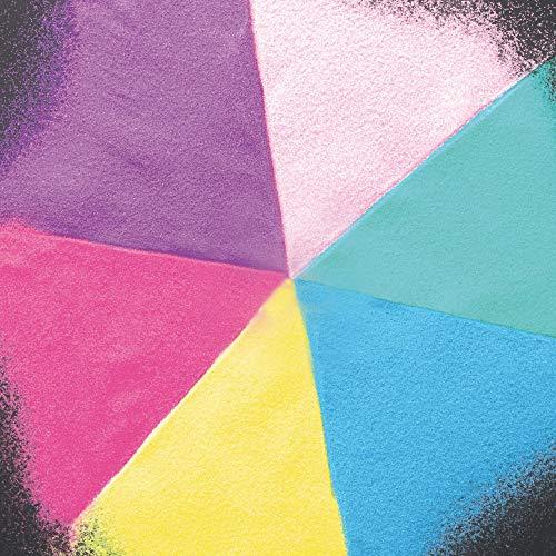 Baker Ross Pastellfarbener Sand (12 Stück) Verschiedene Farben für Kinder zum Basteln und Verzieren von Karten, Bastelhandwerken und Collagen