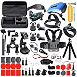 Deyard Kit Premium Set di Accessori per GoPro Hero 9 Black GoPro Hero 8 Hero 7 Hero 6 Hero 5 Hero Session YI Campark Akaso Crosstour Apeman Sony Action Camera