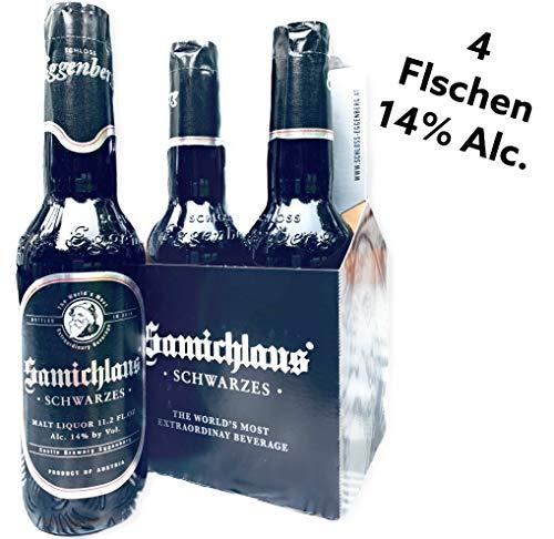 4 Flaschen Samichlaus Schwarzes Bier Starkbier mit 14% Alc.