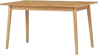 Selsey Veneer - Table à Manger Extensible (140-180x80cm, Effet chêne/Bois)