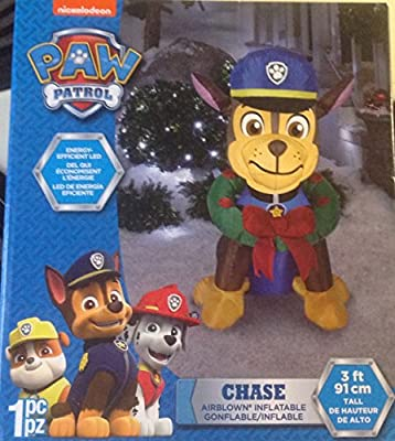 Gemmy Paw Patrol Chase with Wreath Airblown Inflatable 3 ft Tall Christmas
