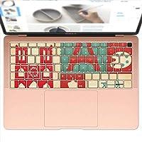 igsticker MacBook Air 13inch 2018 専用 キーボード用スキンシール キートップ ステッカー A1932 Apple マックブック エア ノートパソコン アクセサリー 保護 004830 ユニーク 外国 イラスト