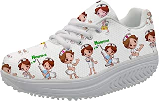 Agroupdream Femme Chaussures de Running pour Course Sports Fitness Gym athl/étique Sneakers Nurse Style