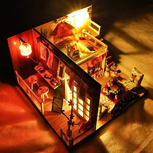 Heyang, kit di casetta in legno per bambole in stile giapponese, modello 3d Cherry Kimono in stile giapponese, per sushi, ristorante, in miniatura, per casa in legno (la storia di Sakura)