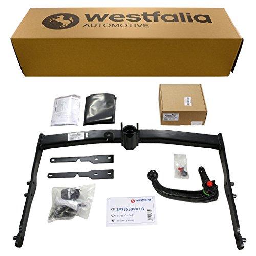 Westfalia Abnehmbare Anhängerkupplung für Ford Galaxy 7-Sitzer (BJ 05/2006-09/2015) im Set mit 13-poligem fahrzeugspezifischen Westfalia Elektrosatz