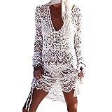 Homebaby - Copricostume Mare Donna Pizzo Camicia - Copribikini in Cotone sui Costume da Bagno Sexy -...
