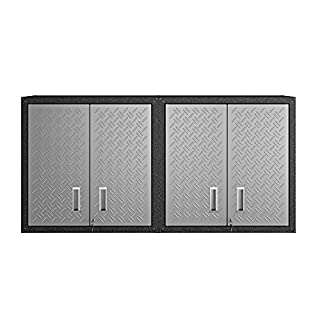 Manhattan Comfort Fortress Collection Modern Designed 2 Piece Set Floating Storage Garage Cabinet Great For Tools and Supplies, 2 Pc Set, Stainless Steel (B073RJDFHX) | Amazon price tracker / tracking, Amazon price history charts, Amazon price watches, Amazon price drop alerts