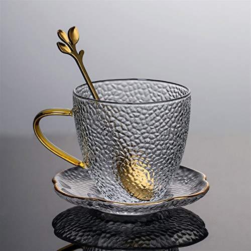 YCSX Wassergläser Espressotassen, Glastassen, Biergläser, Cappuccino Tassen, Glasschalen mit Griff Stemless Sektgläser