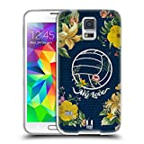 Head Case Designs Volleyball Blüte Blumen Und Sport Soft Gel Huelle kompatibel mit Samsung Galaxy S5 / S5 Neo