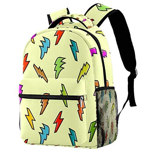 Mochila escolar con nubes azules y palmeras para viajes, estampado 8 (Multicolor) - bbackpacks004