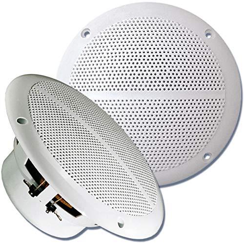 Sound Way - Haut-parleurs Marins 13 CM Enceintes pour Bateau, véranda, Piscine, Salle de Bain 80 Watts