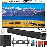 SAMSUNG UN65TU8300 65' HDR 4K UHD Smart Curved TV (2020 Model) Bundle with Deco Gear Home Theater Soundbar with Subwoofer and Complete Wall Mount Setup and Accessory Kit