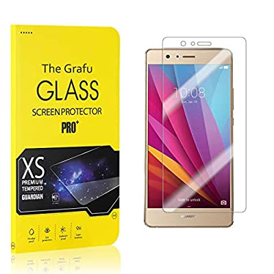 The Grafu Screen Protector Compatible with Huawei P9 Lite, Tempered Glass, Scratch Resistant HD Screen Protector Film for Huawei P9 Lite, Easy Installation, 4 Pack by The Grafu