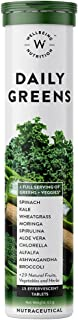 Wellbeing Nutrition Daily Greens, Wholefood Multivitamin with Vitamin C, Zinc, B6, B12, Iron for Immunity and Detox with 3...