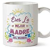 MUGFFINS Tazas para Mamá –Eres la mejor madre (Modelo 1) – Regalos para el día de la Madre/Desayunos originales