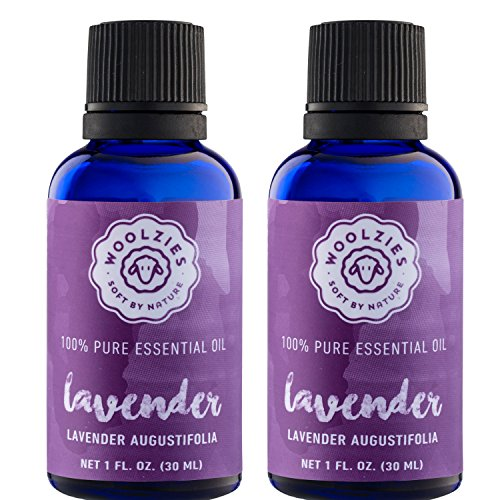 Woolzies Lavender 100% NATURAL Pure Essential oil - 2 pack - 1 Fl oz per bottle
