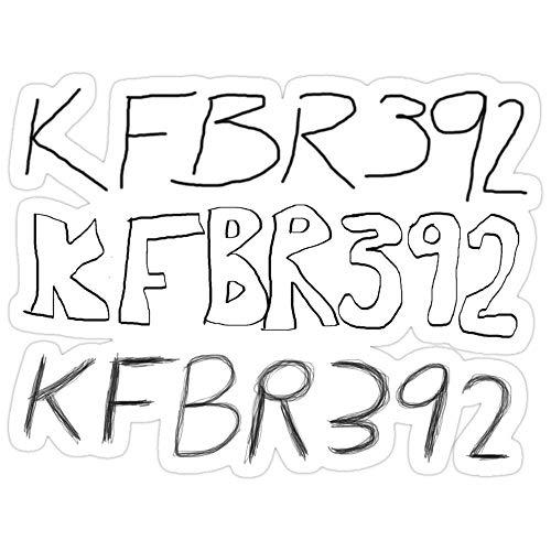 Jess-Sha Store 3 PCs Stickers KFBR392 KFBR392 KFBR392, mcgruber Sticker for Laptop, Phone, Cars, Vinyl Funny Stickers Decal for Laptops, Guitar, Fridge