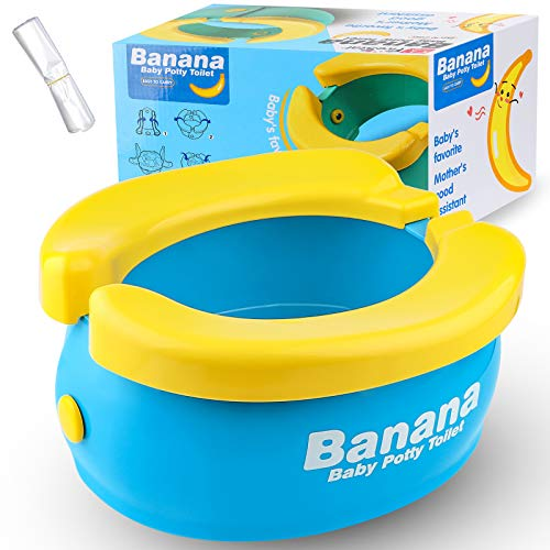 Travel Potty, Tinabless Portable Folding Reusable Banana Travel Toilet Potty Training Seat for...