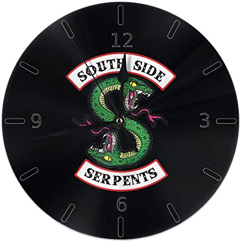 Kncsru Wanduhr Silent Non Ticking Round Wanduhren, Riverdale Fans Uhren Batteriebetriebene Quarz Analog Quiet Tischuhr