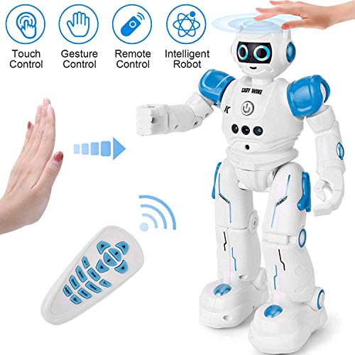 KingsDragon Robot Toys RC Robot for Kids Rechargeable Intelligent Programmable Robot with Infrared Controller,Remote Control Robots Gesture Sensing Robot,Interactive Walking Singing Dancing (Upgraded)