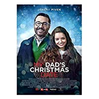 Qqwer パパのクリスマスの日(2020)ジョリーリチャードソン/ジェレミーピヴェン映画ポスターキャンバス絵画壁アート写真家の装飾-50X70Cmx1Pcs-フレームなし