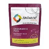 Tailwind Nutrition Cafeinated Raspberry Buzz Endurance Fuel 50 porción – Mezcla de bebida de hidratación con electrolitos, carbohidratos, sin OMG, sin gluten, vegano, sin soja o lácteos