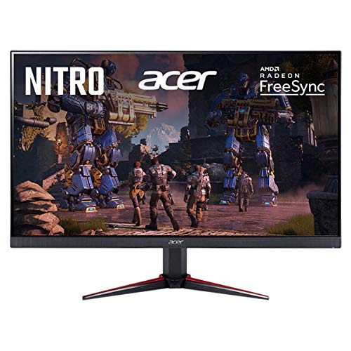 Acer Nitro 27' Class Full HD FreeSync Gaming Monitor, 1ms Response Time, 75Hz Refresh Rate, HDMI 1.4, Bundled with KKE VGA Cable