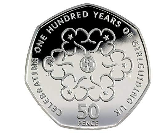 Uk Coin Company 2019 Girl Guiding Royal Mint 50p Moneda de 50 Peniques sin Circular en cápsula