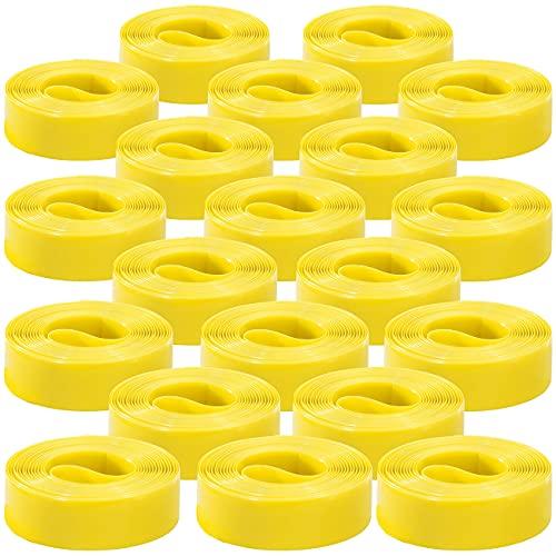PEARL sports Reifenschutz Fahrrad: 10er-Set Pannenschutzeinlagen für Fahrradreifen, 19 mm (gelb) (Fahrrad Pannenschutzeinlage)