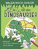 Malen nach Zahlen – Die Welt der Dinosaurier: Malen, lesen und lernen – erlebe zusammen mit der kleinen Libelle Lio spannende Abenteuer. Dino Malbuch inkl. Geschichten für Jungs & Mädchen ab 5 Jahren