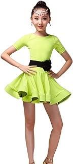 Kid Girls Spandex Latin Rumba Samba Dance Dress Ballroom Dancewear