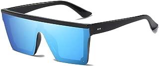 Fashion Women Fashion Sun Glasses for Male Rimless Square Sunglasses Mirroed Ladies Sunglasses Retro (Color : Blue)