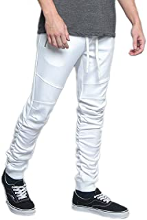 G-Style USA Men's Side Stripe Ankle Zip Drawstring Premium Trackpants