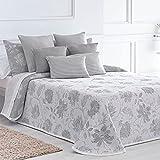 Lanovenanube Isabela Jacquard Tagesdecke für Betten mit 135 cm, perlgrau