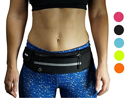 dimok Running Belt Waist Pack - Water Resistant Runners Belt Fanny Pack for Hiking Fitness –...