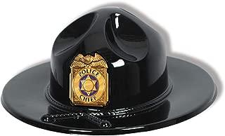 Black Plastic Trooper Hat Party Accessory (1 count)