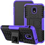 Viodolge for Samsung Galaxy J3 2018 Case,J3 Star/J3 Achieve/Express Prime 3/Amp Prime 3 Case, [Shockproof] Rugged Dual Layer Case Cover with Kickstand (Purple)