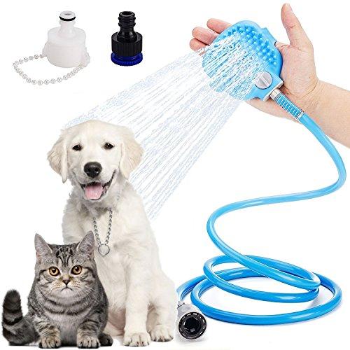 Eyeco rociador de Ducha para Mascotas, Herramienta de baño para Mascotas Rociador de Mano Ajustable de Interior y al Aire Libre Rociador de Manguera de baño de Perro de Gato Manguera de baño