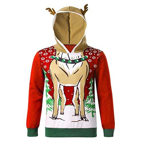 VRTUR Unisex Weihnachten 3D Druck Hoodie Herren Kapuzenpullover Pullover Sweater...