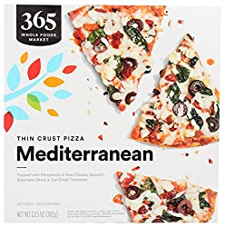 365 by Whole Foods Market, Frozen Thin Crust Pizza, Mediterranean, 13.5 Ounce