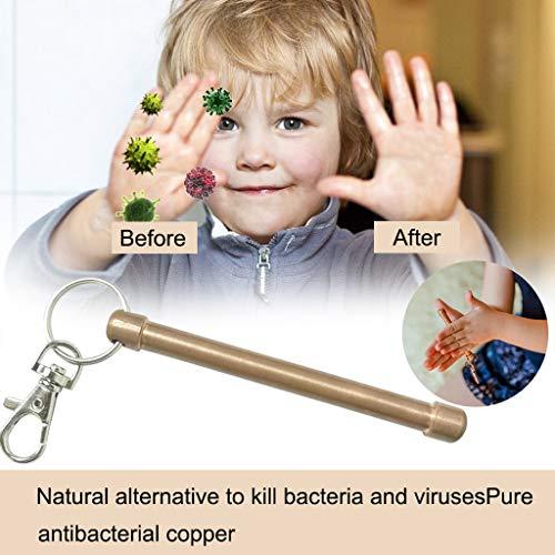 Draagbare natuurzeep, handwas, zeepreiniging van zuiver koper, verwijdert schadelijke stoffen, reinigt de zeep.