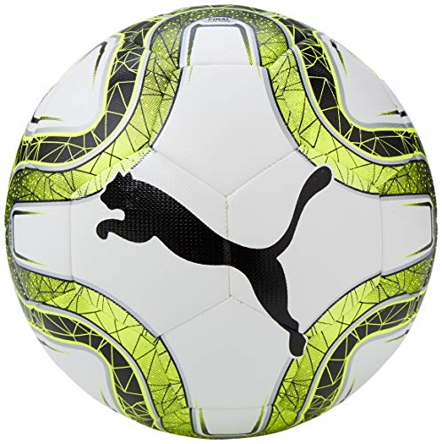 Puma Final Lite 290 g, Pallone da Calcio Unisex – Adulto, White/Lemon Tonic/Black, 5