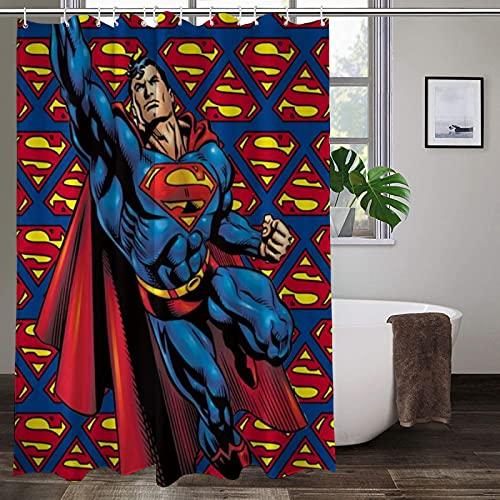 Ungiftig, kein Geruch, Duschvorhang, Superman, hochtemperaturwiderstandsfähig, modischer Polyester-Duschvorhang, langlebig