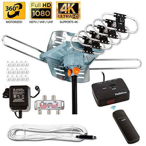 Five Star [Newest 2020] HDTV Antenna Amplified Digital Outdoor Antenna 150 Miles Range, 360 Degree...