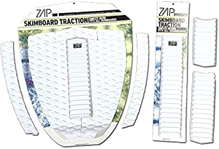 Zap Skimboard Deluxe Traction Pad Set/Skim Board Grip Combo/Tail Pad & Arch Bar
