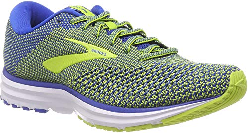 Brooks Revel 2, Chaussures de Running Homme, Multicolore (Blue/Lime/White 404), 41 EU