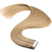 Vlasy 人毛 ウィッグ シールエクステ 付け毛 グラデーションウィッグ 10枚 長さ50cm 14色選択 (18K#)
