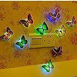 12 PCS LED Bunt Schmetterling Wanddeko Licht Party Licht von Colleer, LED Deko Beleuchtung...